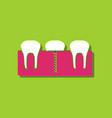 flat icon design collection teeth and gum in vector image vector image