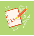 flat office content vector image vector image