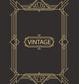 geometric frame in art deco style vector image vector image