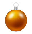 gold christmas ball tree icon realistic style vector image