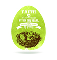 Greeting card with Easter egg symbol vector image vector image