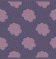hand drawn cloud sky seamless pattern on dots vector image vector image