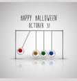 happy halloween background with hanging eyes vector image vector image