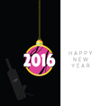 happy new 2016 year in colorful vector image vector image