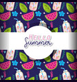 hello summer background vector image vector image