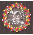 Holly Jolly christmas wreath vector image vector image