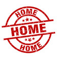 home round red grunge stamp vector image vector image