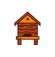 Honey bee beehive vector image vector image