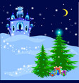 ice royal palace in magic winter vector image vector image