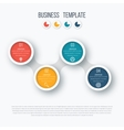 Infographics timeline template with circles vector image vector image