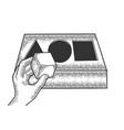 intelligence test sketch engraving vector image vector image