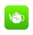 kettle household icon green vector image vector image