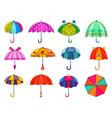kids umbrella childish umbrella-shaped vector image