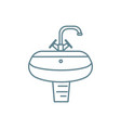 lavatory basin linear icon concept lavatory basin vector image