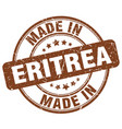 made in eritrea brown grunge round stamp vector image vector image