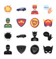 man mask cloak and other web icon in black vector image