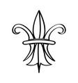 mardi gras symbol fleur de lys outline vector image vector image