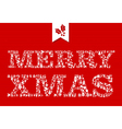 Merry Christmas icons text composition vector image vector image
