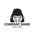 Monochrome Gorilla Logo vector image vector image