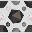 monochrome polygon seamless pattern vector image vector image