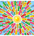 Multicolor Flip flops summer splash vector image vector image