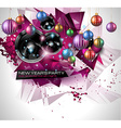 New Years Party Flyer design for nigh clubs event vector image