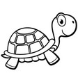 outlined turtle cartoon design vector image