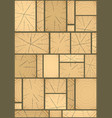 panels made of wood vector image vector image