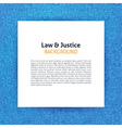 Paper Template over Law and Justice Line Art vector image vector image