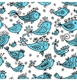 Seamless pattern with funny fishes for your design vector image vector image