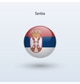Serbia round flag vector image vector image