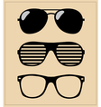 set of sunglasses background vector image vector image