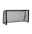 soccer goal on white background vector image vector image