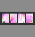 stock pink color covers set vector image