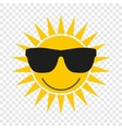 Sun with glasses icon vector image vector image