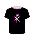 T Shirt Template- Monogram of Christ vector image vector image