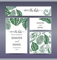 template for wedding invitation with vector image vector image