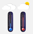 Thermometer cool and hot vector image vector image