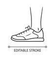 trainers linear icon women and men stylish vector image vector image