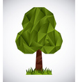 trees origami vector image vector image