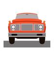 truck car vintage front side vector image vector image