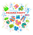 typography card for a pajama party vector image vector image
