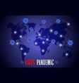 virus epidemic 2020 spreading world vector image