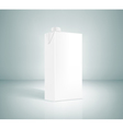 white box of juice on a gray background vector image vector image