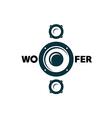 Subwoofer symbol vector image