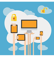 BYOD Concept Bring Your own Device Security vector image