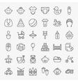 Baby Line Art Design Icons Big Set vector image