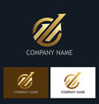gold arrow progress logo vector image