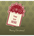 2015 Christmas Tag with field for text vector image vector image