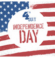 4th july independence day american flag patriotic vector image vector image